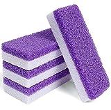 Sponge Pumice Stone for Feet Hard Skin Callus Remover and Scrubber (4 Pcs Purple)