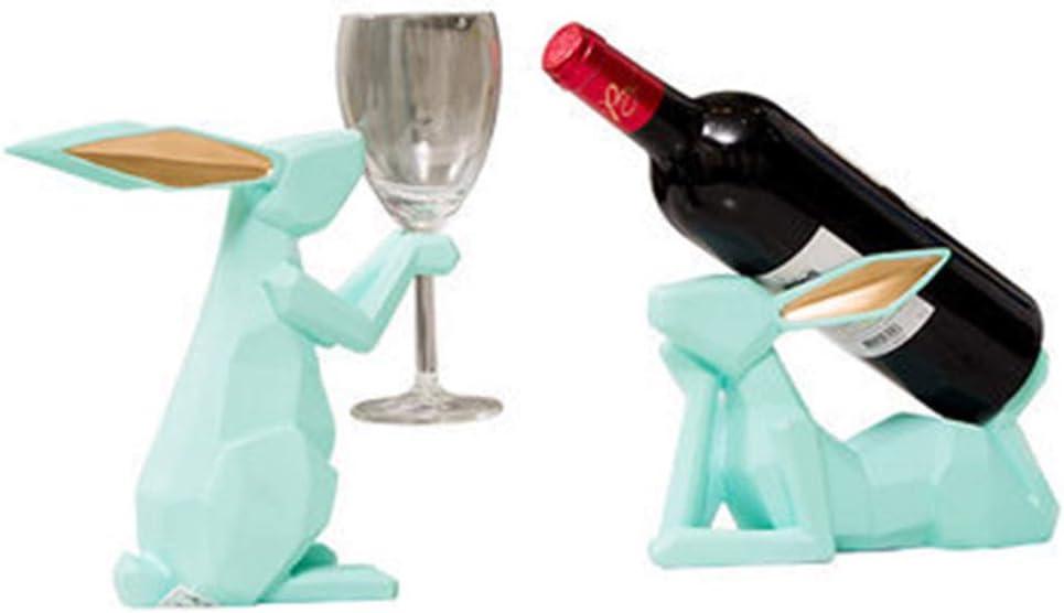 ACOMG Bargain Wine Racks Bottle store Sculpture Decoration Holder Rabbit
