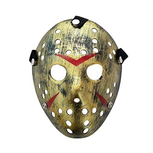 Halloweenmaske, Eishockey Masken Kostüm Halloween Horror Gruselig Schaurig Erwachsene Mann Frau Elastisches Band Gesichtsmaske Cosplay