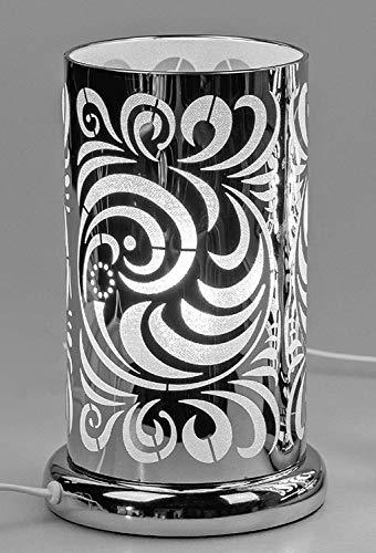 formano Tischlampe, Leuchte Kreise H. 24cm D. 15cm mit Touch Silber