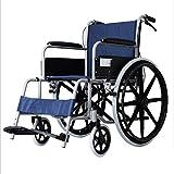 LOLRGV Leichte Selbstfahrer Rollstuhl Faltbare Roller, verstellbare Pedale mit Handbremse und Verstellbare Handlauf -