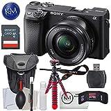 Sony a6400 Mirrorless Digital Camera Bundles (A6400 w/ 16-50mm Lens, Essential Kit)