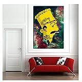 Suuyar Bart On Weed Wallpaper Leinwand Malerei Druck
