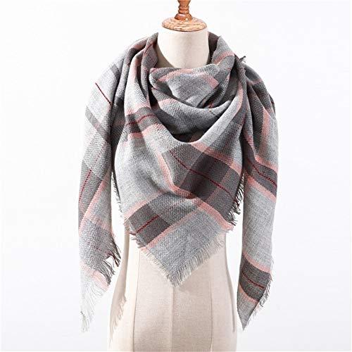 AiKoch Bufanda De Las Mujeres Invierno Bufandas De Tela Escocesa For Los Mantones De Las Señoras Envuelve El Cuello Caliente Triángulo Comfortable (Color : G8)