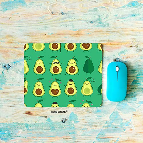 HGOD DESIGNS Avocados Gaming Mouse Pad,Different Cute Green Avocados Pattern Mousepad Rectangle Non-Slip Rubber Mouse Pads(7.9'X9.5')