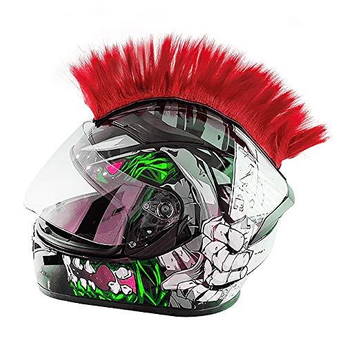 Wamsatto Punk Helmabdeckung Mohawk Frisur Irokese Perücke Motorrad Helmzubehör für Snowboardhelm Fahrradhelm Helm-Aufkleber Helmdeko für Kinder Und Erwachsene Riesige Farbauswahl ohne Helm