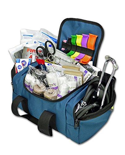 Lightning X Value Compact Medic First Responder EMS/EMT Stocked Trauma Bag w/Standard Fill Kit B - Blue