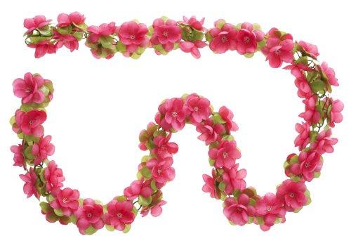 Basil Blumengirlande Fuchsia ~ ca. 130 cm ~ zum verschönern Ihres Fahrrades z.B. für Fahrradkorb, Lenker oder Ihrer Wohnung