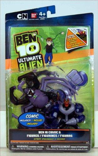 Ben 10 Ultimate Alien Comic Exclusive 10cm Action Figure 2Pack Ultimate Spidermonkey Vulkanus