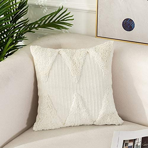 Tiffasea Boho Throw Pillow Cover 20x20 inch Decorative Pillows Case Neutral Tufted Farmhouse product image