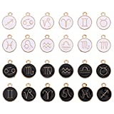 EXCEART 24Pcs 12 Constellations Signe du Zodiaque Pendentifs Charmes Astrologie Horoscope ...