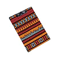 クリップボード A4サイズ対応 レンジップボード 作業用ペーパーホルダーシームレスな幾何学模様の民族と部族のモチーフ (1個)