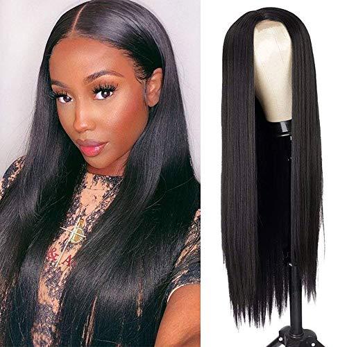 comprar pelucas mujer pelo natural negro largo online
