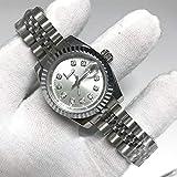 WAVFCSE großhandel diamanten 28mm Frauen größe automatische Bewegung Mode Frauen Datum nur Uhr edelstahlband Uhren 01