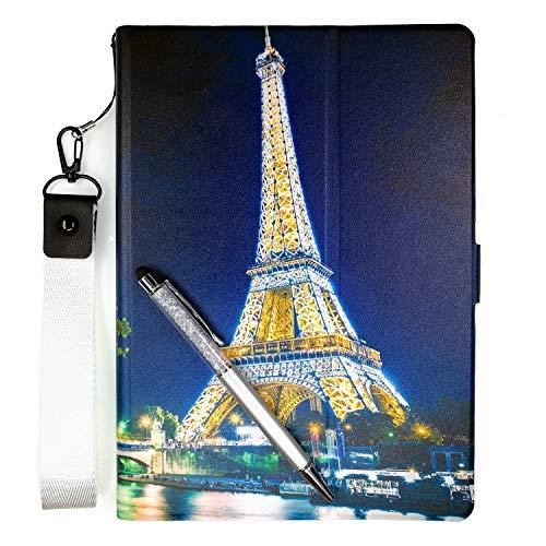 Lovewlb Tablettes Coque pour Auchan Qilive S5t7in3g Coque Etui Housse Support Intégré Multi-Angle,Cuir Tablet Case Cover TT