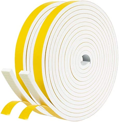 fowong White Door Weather Stripping 26 Feet 1 2 Inch Wide X 1 4 Inch Thick High Density Foam product image