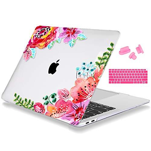 Mektron MacBook Air 13 Zoll Gehäuse A1932, Hartplastik-Schutzhülle und Staubstecker für Tastaturabdeckung für MacBook Air 13