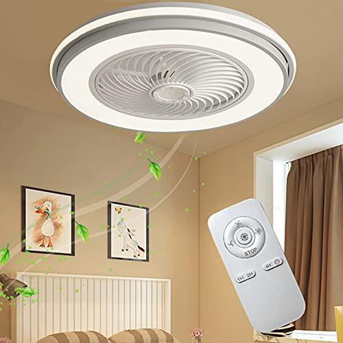Bajo Consumo Ventiladores De Techo Con Luz Y Mando A Distancia Ventilador Techo Con Lámpara Silenciosos Casa Iluminación Luces LED Ventilador Potente Moderno Invisible Dimable Dormitorio Salon