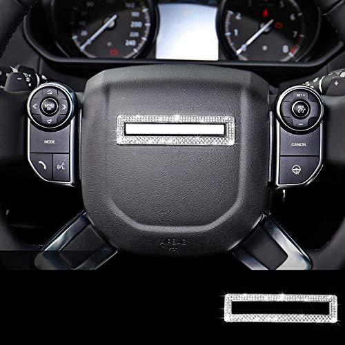 SFXTLLL Ajuste de la Cubierta del Marco del Logotipo del Centro del Volante Plateado/Dorado, Apto para Land Rover Range Rover 2013 2018 y RRS 2014 2018