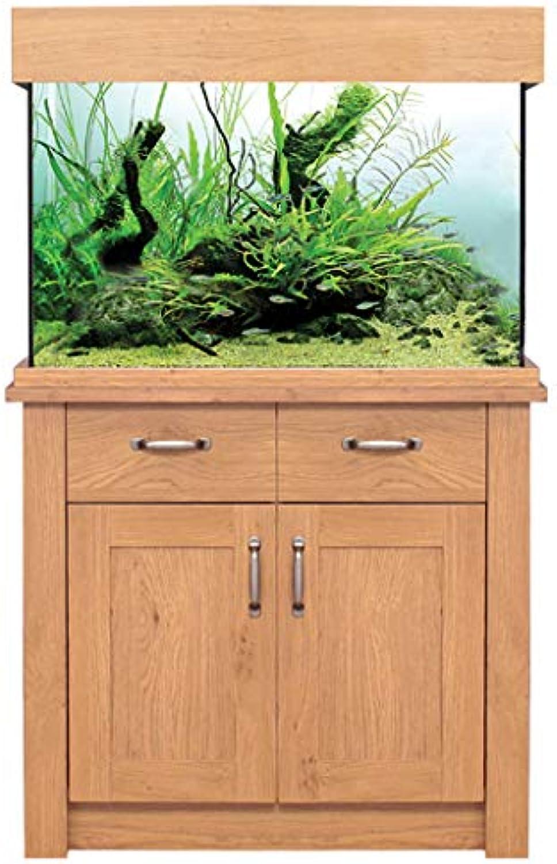 Oak Aquarium Fish Tanks Oak Style & Oak Shades (81cm   145L, Oak Style)