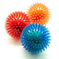 """【INTERACTIVE CHEW TOYS FOR DOGS】Each ball has a """"Tennis Ball"""" inside instead of a squeaker and this dog toy bundle helps keeping your pup active, engaged, distracted and happy with hours of fun and play. You can toss the ball and let your dog fetch, ..."""