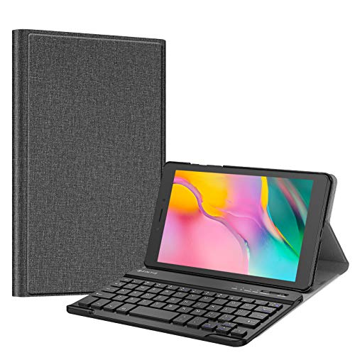 Fintie Keyboard Case for Samsung Galaxy Tab A 8.0 2019 Without S Pen Model (SM-T290 Wi-Fi, SM-T295 LTE), Slim Shell Lightweight Stand Cover with Detachable Wireless Bluetooth Keyboard, Gray