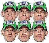 Star Cutouts Ltd SMP416 John Cena WWE - Juego de 6 máscaras de lucha libre para la familia, amigos y fans