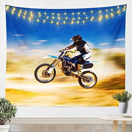 Loussiesd Extreme Sports - Manta de pared para colgar en la pared, diseño de motocross, para niños, adultos, manta de cama ultra suave, decoración de habitación, tamaño grande de 69 x 91
