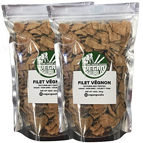FILET VËGNON   2 PACK COMBO   100% PLANT BASED   INCREDIBLE MEAT-LIKE TEXTURE   TEXTURED VEGETABLE PROTEIN   VEGAN   NON-GMO   CRUELTY FREE