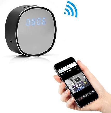Gybai Webcam WiFi Orologio Elettronico Mini Telecamera Sveglia Tempo di Sorveglianza Video Remoto P2P CCTV IP Telecamera di Sorveglianza di Sicurezza Domestica Visione Notturna A Raggi Infrarossi - Trova i prezzi più bassi