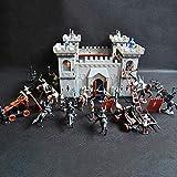 Juego Castillo Set Juguete Medieval Castillo Juguete Caballeros Juego Soldados Infantería Accesorio...