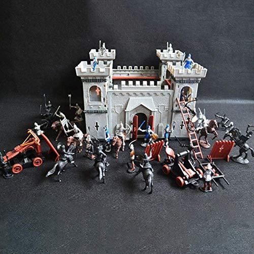 Juego Castillo Set Juguete Medieval Castillo Juguete Caballeros Juego Soldados Infantería Accesorio Educativo Parque Infantil Regalos Construcción Modelo Accesorio