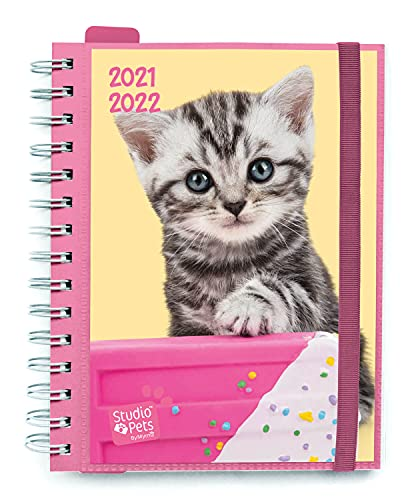 AGENDA ESCOLAR 2021-2022 Semana Vista Studio Pets Cats by Kalenda by Kalenda