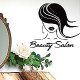 Salón de belleza Modelo Vinilo Etiqueta de la pared Introducción de maquillaje Etiqueta de la pared Cocina y comedor Etiqueta de la pared