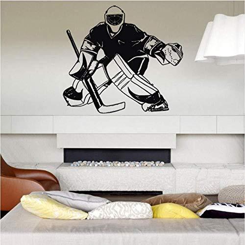 Spieler Eishockey Torwart Abziehbilder Wand für Kinder Schlafzimmer Kinderzimmer Aufkleber Wand für Kindertrage Artepared Fototapete 58 * 65 cm