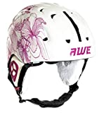 AWE Poids léger Dames Adultes Ski Casque Jet Blanc/Rose, Taille 56-58cm