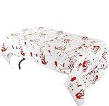 "JOYIN 3PCS 104"" x 52"" Bloody Zombie Tablecover Tablecloth Halloween Party Supplies Decoration"
