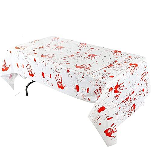 JOYIN - Mantel de mesa con diseño de zombies sangrientos, de 104 x 132 cm, para decoración de fiestas de Halloween