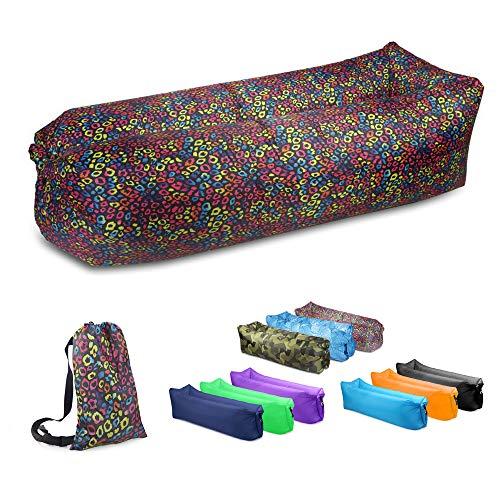 JSVER Wasserdichtes aufblasbares Sofa, Luft Sofa,Luft Couch, mit Integriertem Kissen, tragbares aufblasbares Sofa,...