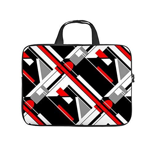 Gray, Black, Red, White Diagonal Geometric 10InchLaptopSleeveCaseProtectiveCoverCarryingBagfor9.7'10.5'IpadProAir/10'MicrosoftSurfaceGo/10.5'SamsungGalaxyTab