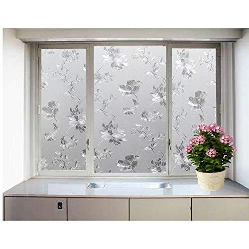 lsaiyy Reine gefrostete Wärmedämmung Fensteraufkleber verdicktes elektrostatisches Glas Aufkleber Isolierung Sonnenschutz dekorative Aufkleber Tapete-45CMX2M
