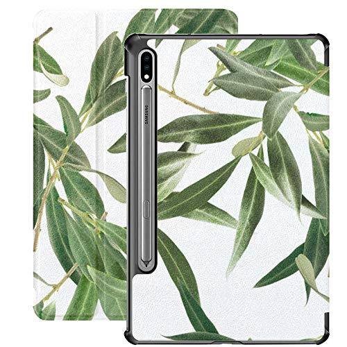 Funda para tablet Samsung Galaxy Tab S7/S7 Plus Samsung Galaxy Tab A de 7 pulgadas con soporte para Samsung Galaxy Tab S7 de 11 pulgadas, S7 Plus de 12,4 pulgadas, color verde oliva