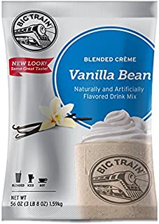 Big Train Blended Creme Mix Vanilla Bean 3.5 Lb (1 Count)  Powdered Instant Drink Mix, Serve Hot or Cold, Makes Blended Frappe Drinks