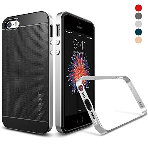 Spigen Neo Hybrid Designed for Apple iPhone SE Case (2016) - Satin Silver