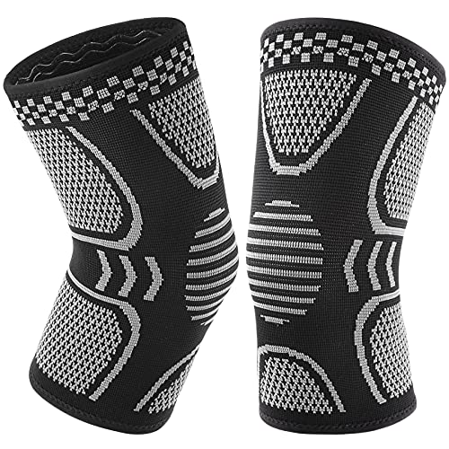 1 Pair Knee Brace for Knee Pain Women Men Copper Knee Braces Compression Sleeves Support for Working Out Running Sport Arthritis
