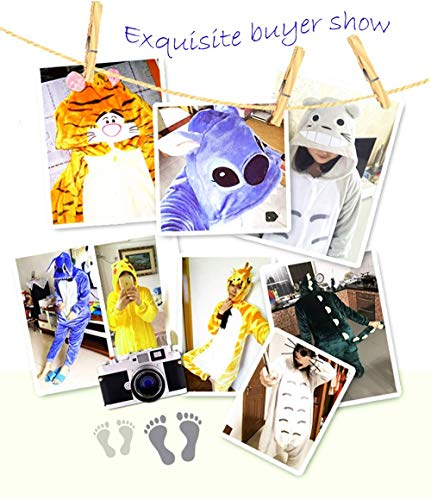 Unisex Pajamas Adult Animal Onesies Flannel Mouse One-Piece Pajamas Animal Winter Cartoon Cute Gray Autumn Couple Costume, JUSTTIME, Mouse, s