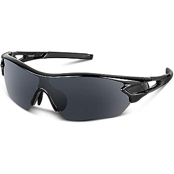 Bea Cool Gafas de sol polarizadas deportivas para hombres, mujeres, jóvenes, béisbol, ciclismo, correr, conducir, pescar, golf, motocicleta, tac, gafas (Negro brillante): Amazon.es: Deportes y aire libre