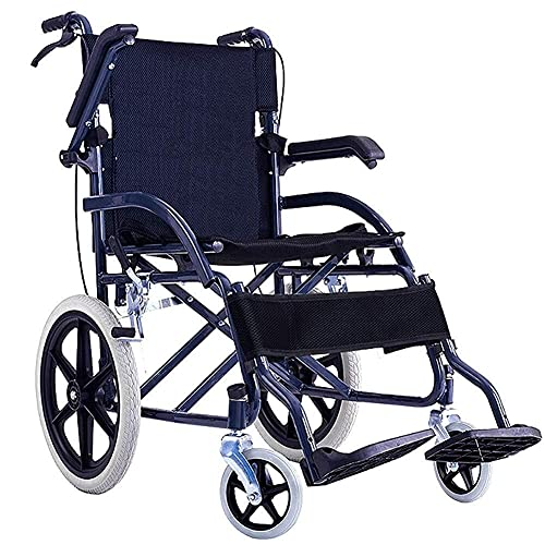 wheelchair carts W-SHTAO L-WSWS Wheelchair Hospital Trolley, Medical Supplies Rack,Lightweight Wheelchair Driving Medical Adult Medical Supplies, Wheelchair Portable Old Carts Disabled Small Solid Wheel Travel
