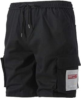 Men Shorts Cargo Fashion Black Size Size Casual Modern Solid Sport Jogging Work Pants with Drawstring Bag Men Shorts Casua...