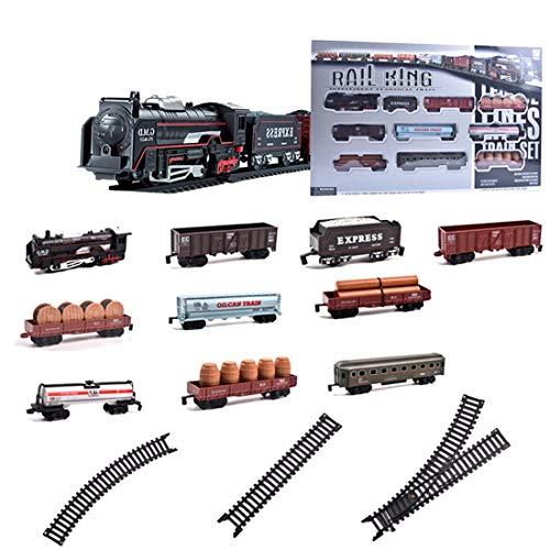 ColiCor Elektrische Eisenbahn Kinder,Bahnhof Modelleisenbahn H0,Batterieantrieb Bahn Reisezug Set Für Kinder
